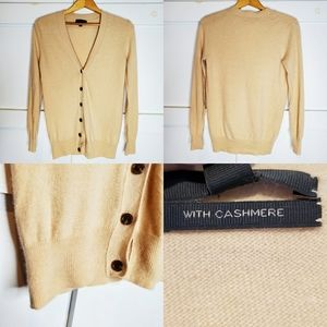 J. CREW Button Cashmere Wool Cardigan Sweater